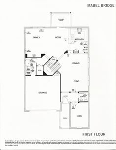 Mabel Bridge 238.3009 First Floor Plan in Orlando FL