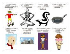 Ms. Lane's SLP Materials: Articulation: Sk Blend Sentence Flash Cards
