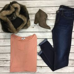 Casual chic in a Piko Top and Flying Monkey Jeans! Shop this look on gliks.com