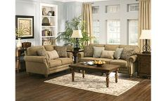 """Prelude - Champagne Sofa  MEASUREMENTS & SPECS Primary Material:Fabric Display Color:Champagne Dimensions:88""""W x 38""""D x 40""""H  Weight:135.3 lbs"""