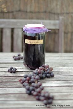 Like the jar top Preserves, Mousse, Party Favors, Blueberry, Cake Recipes, Mason Jars, Homemade, Fruit, Tableware