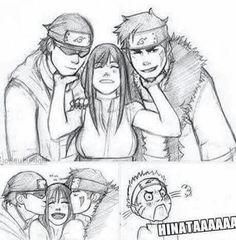 Jealousy over 9,000! Team 8 Naruto, Naruto Y Hinata, Naruto Comic, Naruto Fan Art, Naruto Cute, Naruto Family, Naruto Couples, Naruto Girls, Anime Naruto