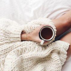 #cozy #bigsweaters #coffee #tea