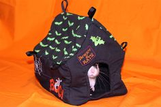 Rat hammock tutorial - Spooky House Hammock/Bed #rats #tutorials