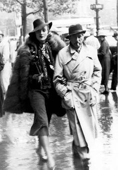 divadietrich:    Marlene Dietrich and Josef von Sternberg in Paris.