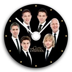 """Celtic Thunder Clock """"Time"""". That way you can look at it and say """"It's Keith time!"""" or, when someone asks, you can say """"It's Emmet o'clock."""" or """"Half past Colm"""" XD this could be awesome and I need it."""