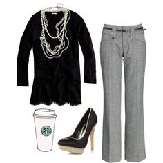 Seriously, an outfit that has already has Starbucks in it....this is awesome!!!
