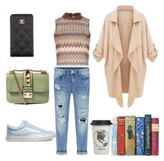 """Cozy,Casual,Chic"" by tania-mrqz on Polyvore featuring Glamorous, Vans, Valentino, Chanel, Natural Life, women's clothing, women's fashion, women, female and woman"