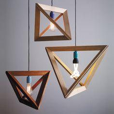 Hängelampen Lampenrahmen Eiche // wood lamp frame by herrmandel via dawanda.com WHAT?!