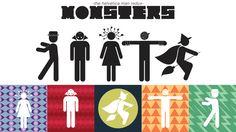 Helvetica Man Revamped: Monsters by Lindsay Muir, via Behance