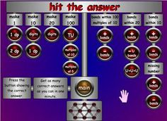Hit the Button is a popular game for addition or multiplication mental maths. Hit the Botton. Hit the Butten Hit the Buton. Number bonds, doubles, halves, times tables, square numbers or division facts. Fun Math Games, Learning Activities, Math Websites, Hit The Button, Number Bonds, Times Tables, School Games, Numeracy, Math Resources