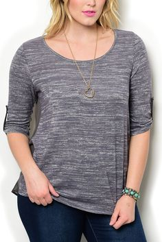 http://www.dhstyles.com/Gray-Cream-Plus-Size-Trendy-Marble-Knit-Paneled-Sh-p/jane-7916x-gray-cream.htm