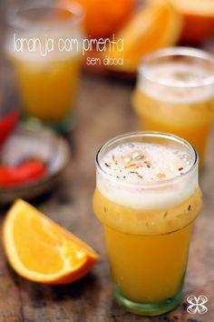 drink sem álcool de laranja com pimenta