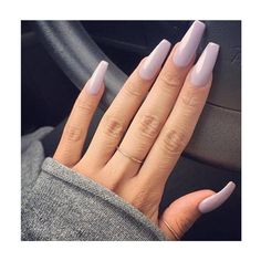 Soft purple nails inspiration. #purple #nails