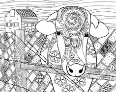 free cow animal coloring page for adults cow coloring pages coloring pages for grown ups