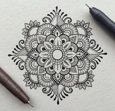 black, color, colour, draw, mandala