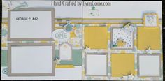 Love GEORGIE Kit of the Month which creates 7 pages and cards. These are pages 1 & 2 ...