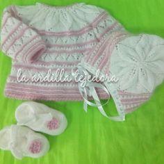 En rosa y blanco para tu bebe el conjunto completo !!!