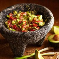 Party Time - Chunky Guacamole - Dips are my *favorite* food group! and guacamole is so very good and healthy too <3 This is a perfect start to our summer party in the garden.  #bhg.com