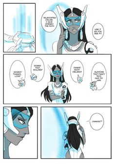 Teleport - A Junkrat x Symmetra Mini comic Notes: Comic assumes they have been together for quite a while so brace yourselves for a mess of fluff. I had a blast drawing this and I hope you...