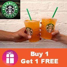 Starbucks BUY 1, GET 1 FREE VALENCIA ORANGE coupon (valid Aug. 1-3) http://freebies4mom.com/valenciab1g1/
