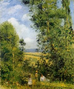 """Camille Pissarro:  """"Resting in the Woods"""""""