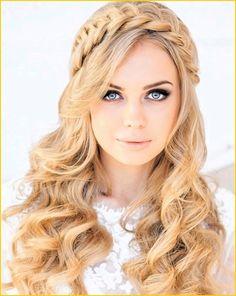 bridesmaid hair half up braid - Google Search