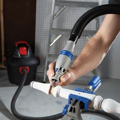 The Dremel is a vacuum powered rotary tool. You can now use your wet/dry vac to power your Dremel tool. Suction of the vacuum powers the rotary tool Thi Woodworking Power Tools, Popular Woodworking, Woodworking Projects Diy, Woodworking Jigs, Woodshop Tools, Woodworking Articles, Woodworking Supplies, Woodworking Classes, Carpentry