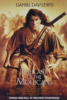 El último mohicano (1992) de Michael Mann (http://ultracuerpos.com/fichas/ultimo-mohicano-1992-michael-mann/) #pelicula #movie #poster