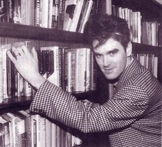 Morrissey at Manchester Central Library in October 1984 -- photo by Tom Sheehan.