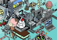 Ice Cream Machine by Nigel Sussman, via Behance