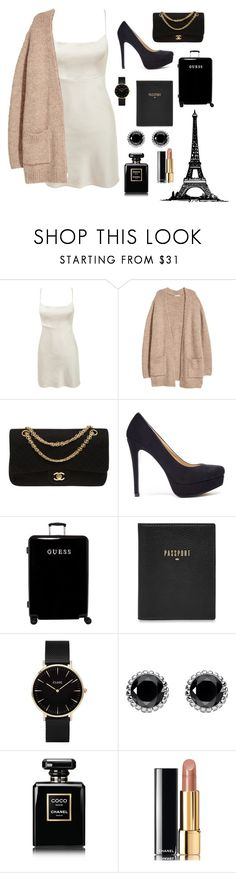 """A Night In Paris ~"" by bunnyrabbit8 ❤ liked on Polyvore featuring Chanel, Chinese Laundry, GUESS, FOSSIL, CLUSE and Thomas Sabo"