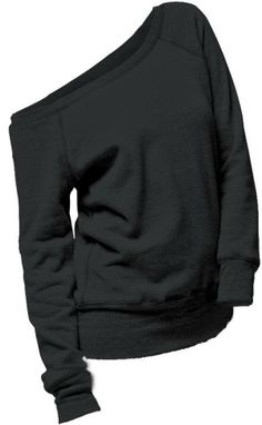 Wide neck black sweater