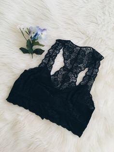 Sweet Heart Bralette (Black)
