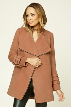 TWELVE Asymmetrical Coat | Forever 21 - 2000215458