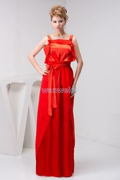 free shipping 2016 arrival formal gown kate middleton dress floor-length strap custom size/color red chiffon bridesmaid dress