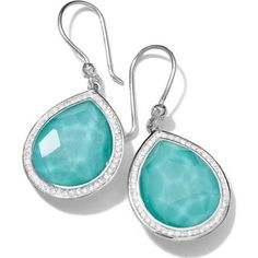 turquoise & diamond earrings - Google Search