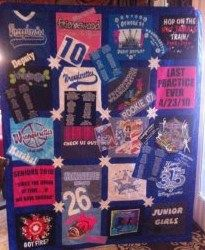 Kyndal's t-shirt quilt