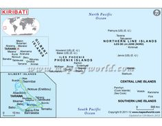 Kiribati Map in Digital Vector Format