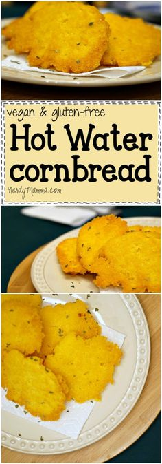 This easy recipe for vegan and gluten-free hot water cornbread is so awesome. I made it last week and....It. Just. Rocks.