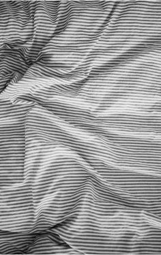 Striped sheets.