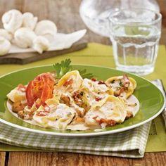 Tortelloni in Kräuter-Frischkäse-Soße