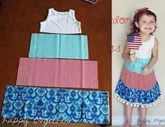 Let Freedom Ring Dress Tutorial Baby Dress Patterns Dress Freedom Ring Tutorial Sewing For Kids, Baby Sewing, Free Sewing, Sewing Kids Clothes, Barbie Clothes, Kids Clothing, Sewing Projects For Beginners, Sewing Tutorials, Sewing Tips