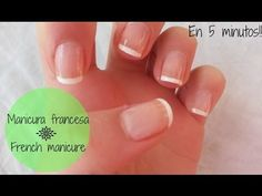 Manicura francesa rápida y fácil - French manicure in 5 minutes - YouTube