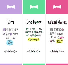 doctor who bookmarks.. click through for source&harry potter ones