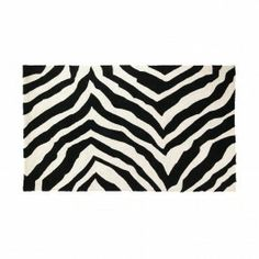 Be wild with the Trina Turk Brawley Hook Rug in Black. The fun #zebra print pattern in #black and #white is classic and elegant. It will certainly add character to any room.  http://www.dormify.com/dorm-and-apartment/trina-turk-brawley-hook-rug-black