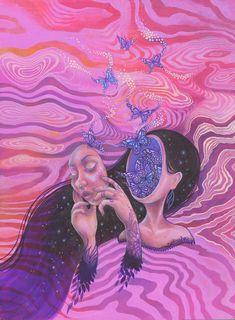 Psychadelic Art, Psychedelic Drawings, Sensory Art, Hippie Painting, Trippy Wallpaper, Arte Obscura, Hippie Art, Visionary Art, Pics Art