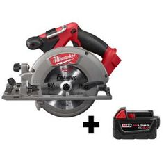 Milwaukee M18 FUEL 18-Volt 7-1/4 in. Lithium-Ion Cordless Rear Handle Circular Saw Kit with 12.0 Ah Battery and Rapid Charger-2830-21HD - The Home Depot Milwaukee Tools, Milwaukee M18, Saw Tool, Cordless Circular Saw, Cordless Tools, Reciprocating Saw, Electronic Recycling, Led Work Light, Battery Sizes