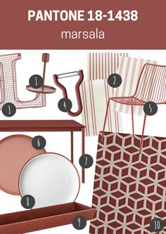pantone 18-1438 marsala | meble i dodatki do wnętrz w kolorze marsala // marsala furniture and home accessories Marsala, Pantone, 9 And 10, Blog, Marsala Wine