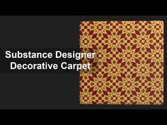 Substance Designer Tutorial - Decorative Carpet, in this tutorial you learn how create a decorative carpet in Substance Designer, in easy and fast way, if yo. Substance Designer Tutorial, Game Textures, Modeling Tips, 3d Tutorial, 3d Max, Environmental Art, Texture Art, Zbrush, Game Art